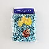 Red de pesca con conchas de playa temática para fiestas, hogar, salón, dormitorio, estilo mediterráneo, decoración de pared (azul)