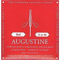 【国内正規品】バラ弦 AUGUSTINE オーガスティン クラシックギター弦 RED MEDIUM TENSION 4弦(D)
