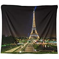 LJFYXZ タペストリー ハンギングクロス パリの夜景 プリントブランケット ポリエステル生地 背景の壁 寝室の居間用 多機能ブランケット (Color : #9, Size : 150x130cm)