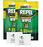 Repel 94100 Sportsmen 30-Percent Deet Mosquito Repellent Wipes, 2...