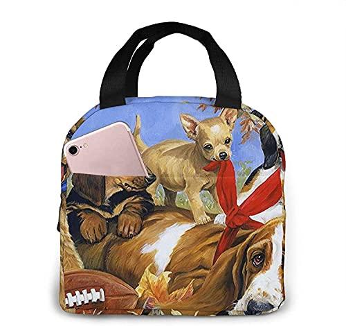 Bolso lindo del almuerzo del animal doméstico para las mujeres, bolso del almuerzo con la correa para el hombro, caja de picnic duradera a prueba de fugas