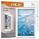 REY Pack 2X Pellicola salvaschermo per Acer ICONIA One 10 B3-A40 10.1', Pellicole salvaschermo Vetro Temperato 9H+, di qualità Premium Tablet