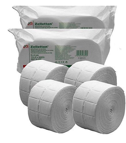 2000 Celulosa de Precortadas de alta calidad ideal para uñas de gel / 4 x Rollo de 500 uds. Celulosas para Uñas Esculpidas
