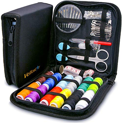 SEWING KIT – a NEEDLE and THREAD KIT for SEWING – Portable Basic Sewing Kits for Adults for On...