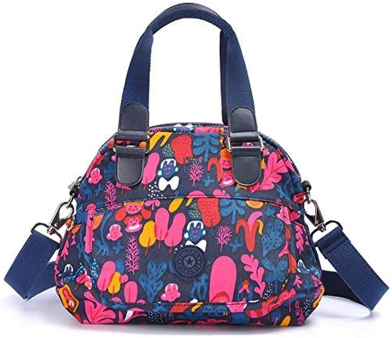 Amayay Daypacks Bedruckte Leinwand Handtaschen Handtasche Messenger Bag Shell Bag Fashion Einfacher Stil Casual Nylon Bag 26  23  8 cm Farbe (Farbe   Colour, Größe   One Größe)