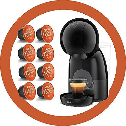 DOLCE GUSTO PICCOLO XS KP1A3510 • Cafetera manual 15 bar • Cafetera espresso y otras bebidas + 8 cápsulas (PICCOLO • Negro + 8 Lungo)