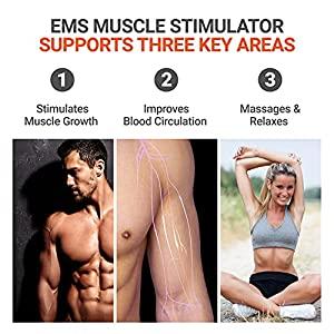 LOOKEE Arm Workout EMS Exerciser, Electric Muscle Simulator Trainer Machine for Arms and Hands.
