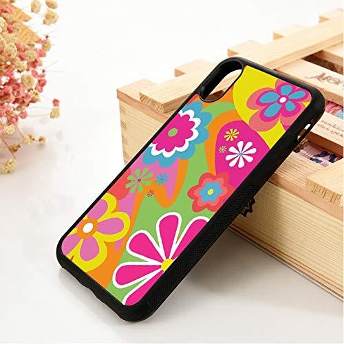 WGOUT para iPhone 5 5S 6 6S TPU Funda de Gel de sílicepara iPhone7 Plus XX 11 Pro MAX XRFundaColorida para teléfono con Flores, para 11 Pro MAX