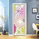 KEXIU 3D Crisantemo acuarela multicolor PVC fotografía adhesivo vinilo puerta...