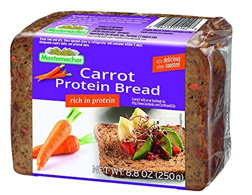 Mestemacher Protein Bread,Carrot , 9 Count