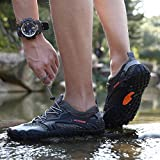 AFT AFFINEST Mens Womens Water Shoes Outdoor Hiking Sandals Aqua Quick Dry Barefoot Beach Sneakers Swim Boating Fishing Yoga Gym(Gray-A,46)