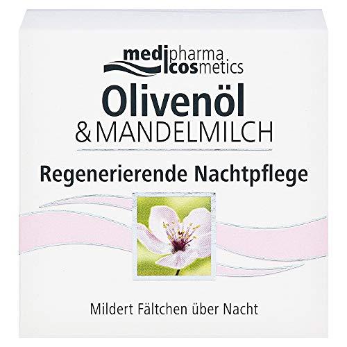 Medipharma Olivenöl & Mandelmilch Regenerierende Nachtpflege Creme, 50 ml