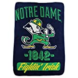 NCAA Collegiate Varsity Super Soft Plush Throw Blanket (Notre Dame Fighting Irish)