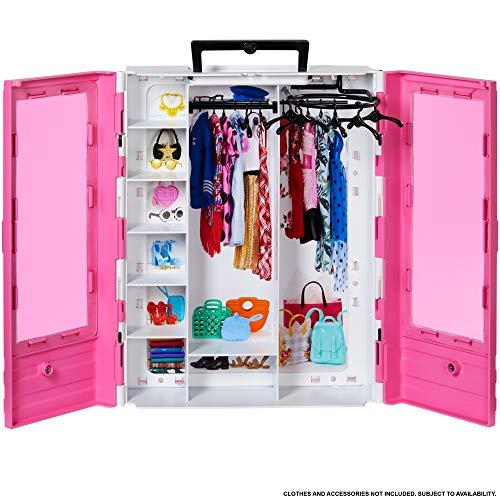 Barbie - Fashionista Armario Portable para Ropa y Accesorios