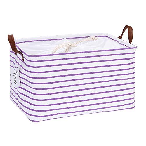 purple canvas basket - 2