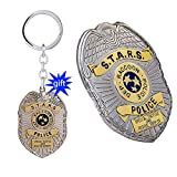 x-costume Resident Evil 2 Pin Badge Shield RPD S.T.A.R.S Cosplay Biohazard Keychain Collection