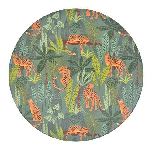 Platte borden van bamboe, diameter 25 x 1,4 cm