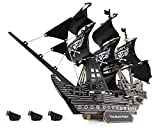141 Pieces DIY 3D Wooden Puzzle - 22.9' Large Black Pearl Pirate Ship Puzzle - Fun & Educational Ship Building Kit - Easy to Assemble for Kids and Adults - Unique Decoration Toy