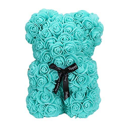 Styleinside - Orsacchiotto di rosa, 63,5 cm, in scatola, regalo per matrimonio, compleanno, San Valentino, Verde, Large