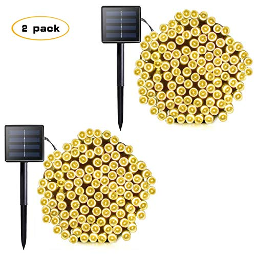 Vmanoo Solar Outdoor String Christmas Lights 72Ft...