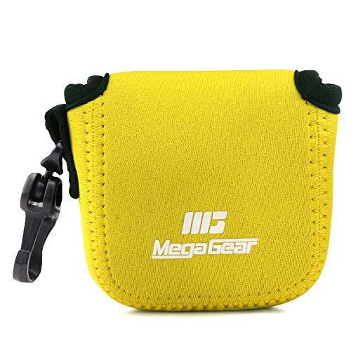 MegaGear MG1852 - Funda de Neopreno Ultraligera Compatible con GoPro Hero9, Hero8, dji Osmo Action, Sony RX0 II, GoPro Hero 7, Sony RX0 1.0, Color Amarillo