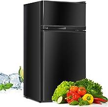 Compact Refrigerator, Safeplus 3.4 cu ft. Unit Cold-rolled Sheet Mini Refrigerator with freezer, Dorm fridge with Adjustab...