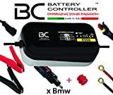 BC K900 - 6/12V 0,9A - Cargador y Mantenedor de Baterías con 3 Programas de Carga: 6 Volt/12 Volt/12 Volt CAN-Bus para Motos BMW