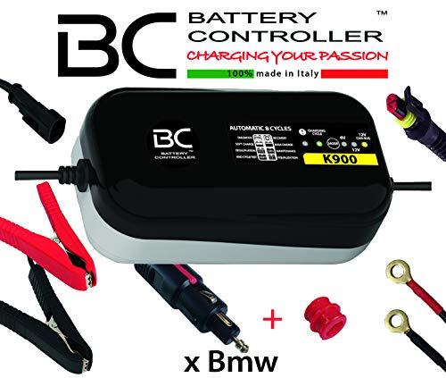 BC K900 - 6/12V 0,9A - Batterie-Ladegerät und Erhaltungsgerät mit 3 Ladeprogramme: 6 Volt/12 Volt/12 Volt CAN-Bus für BMW-Motorräder