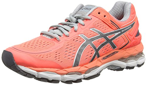 ASICS Gel-Kayano 22 - Scarpe Running Donna, Arancione (Flash Coral/Carbon/Silver Grey), 36 EU