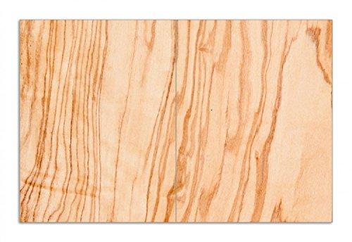 Wallario Herdabdeckplatte/Spritzschutz aus Glas, 2-teilig, 80x52cm, für Ceran- und Induktionsherde, Motiv Holzmuster - Oberfläche mit Holzmaserung VI