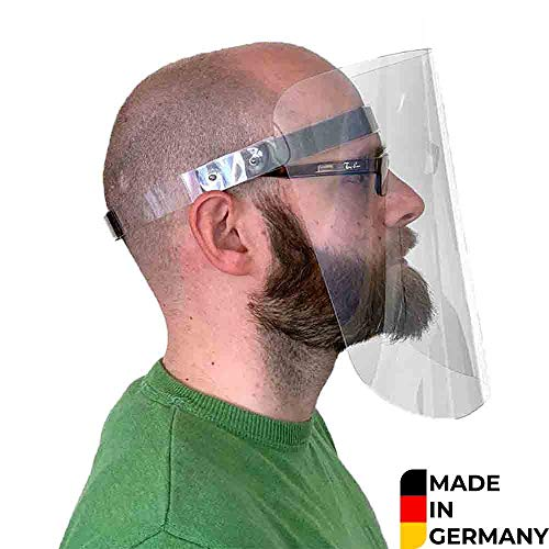 Visier Gesichtsschutz – Gesichtsschutz aus Plexiglas abwaschbar – Face Shield – Gesichts Schutzschild Made IN Germany