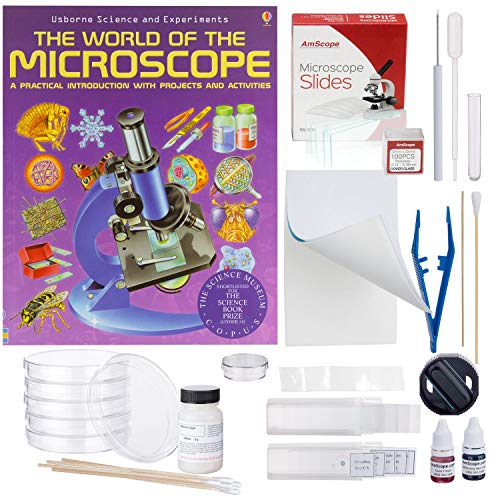 AmScope Compound Microscope Accessory and Book Kit: Preparation and Culturing