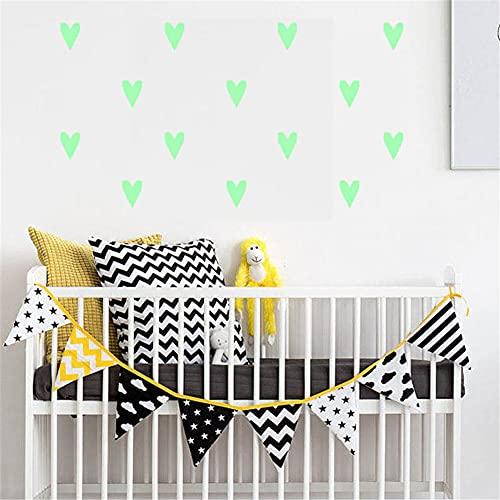 vinilos pared,Pegatinas de pared luminosas de amor, pegatinas fluorescentes para dormitorio, sala de estar y pintura de combinación luminosa de habitación