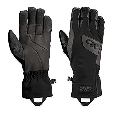 Outdoor Research Super Vert Gloves, Black/Charcoal, Large