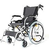 Leichter Zusammenklappbarer Rollstuhl, Zusammenklappbares Mobilitätsgerät für Den Transport in Geschlossenen Räumen und Einfaches Aufbewahrungsgerät für Behinderte Ältere Menschen, TWL LTD-Wheelchai -
