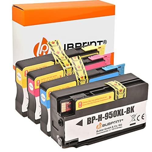 Bubprint Kompatibel Druckerpatronen als Ersatz für HP 950XL 951XL für Officejet Pro 251DW 276DW 8100 ePrinter 8600 Plus 8610 8615 8616 8620 8625 e-All-in-One 4er-Pack