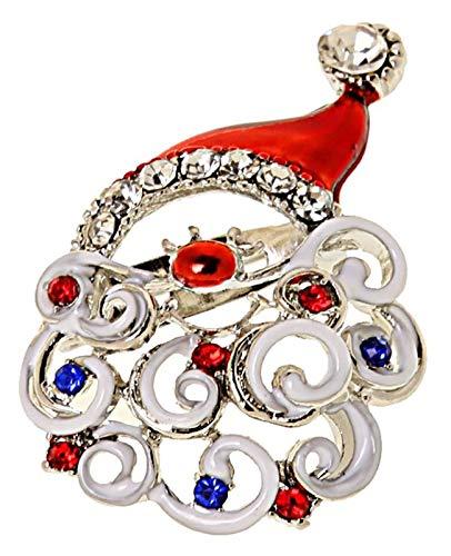 XIAOGING Mode Frauen-Weinlese-Weihnachtsbaum-Brosche Strass Charm Schmuck Geschenk (Farbe : Silver)