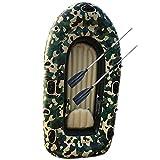 Fnho Opblaasbare Boot voor volwassenen,Rubberboten,Bote Inflable Bote de Goma, Bote de Pesca en Kayak-Camuflaje_190 x 108cm