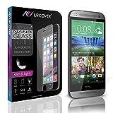 Urcover HTC One 2 Mini Protector Pantalla, 9H Cristal Templado [Ultra HD Full Screen & Crystal Clear] Instalación Anti-Burbuja Anti-Scratch HTC One 2 Mini