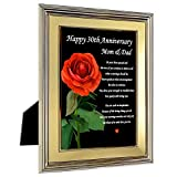 Happy 30th Anniversary Mom and Dad - Sweet Poem for Parents in 5x7 Inch Frame