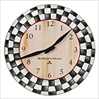 MacKenzie-Childs Courtly Check Enamel Clock