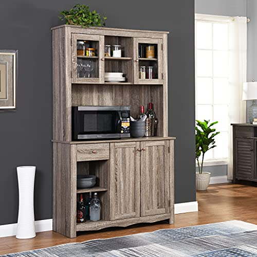 Home Source China Cabinet (Grey)