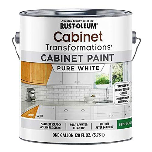 Rust-Oleum 359025 Cabinet Transformations Paint Semi- Gloss Pure White Gal