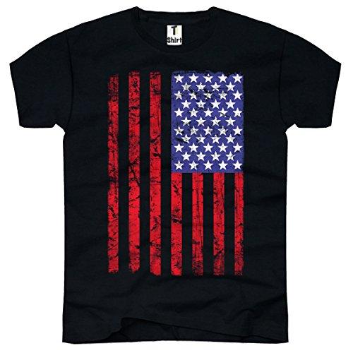 TEE-Shirt, Herren T-Shirt USA Flag Taille XXXL,Schwarz