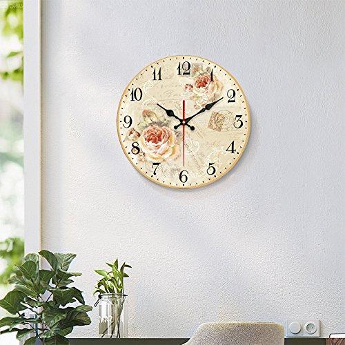 WALL CLOCK WERLM Restaurant sépia Chambre Salon Murs sont décorés Restaurant Salon Table Horloge Murale Horloge silencieuse décoration Murale Horloge Murale, 20 cm, 15