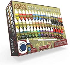 The Army Painter Warpaints Mega Paint Set, 50 Acrylic Paints and 1 Wargamer: Regiment Brush - Comprehensive Starter Set for Wargames, Roleplaying and Tabletop Miniature Model Painting