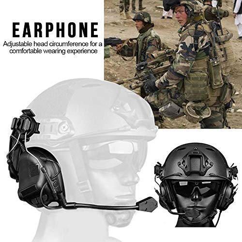 Hearing Protection Ear Muffs Noise-Shooting Ear Protection Ear Protection-Helmet-Type No-Noise Noise-Reduction Tactical Headset -Game Headphone