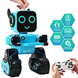 JDBABY Remote Control Robot Toy for Kids, Smart Toy Robot with Singing,Dancing,Built-in Piggy Bank,Touch Control, Recorder,Rechargeable Gift for Boys and Girls (Blue)