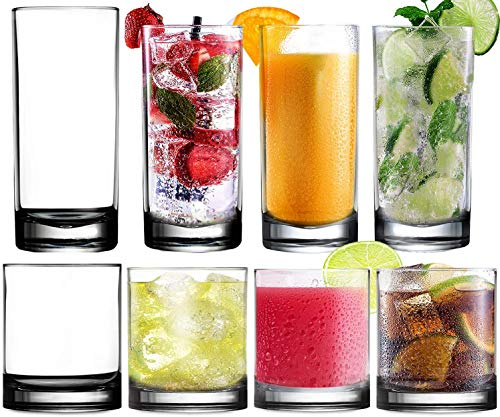 Kunststoffbecher Trinkglas Acrylglas Plastikbecher Mehrweg - Kryllic 8 Plastik Becher Set Trinkbecher Plastik Acryl Glas Kunststoff Becher Wasserglas Camping Tasse Becher Plastik Whiskey Glas Weinglas