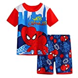 Enfant Super héros Spiderman Dessin animé Pyjamas Costume Spiderman Garçon T-Shirt...